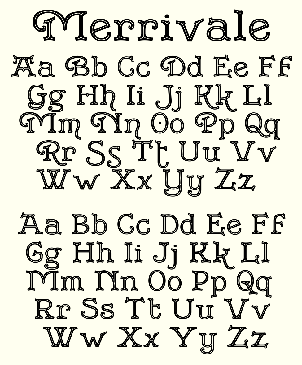 Two Alphabets Greater Albion Typefounders