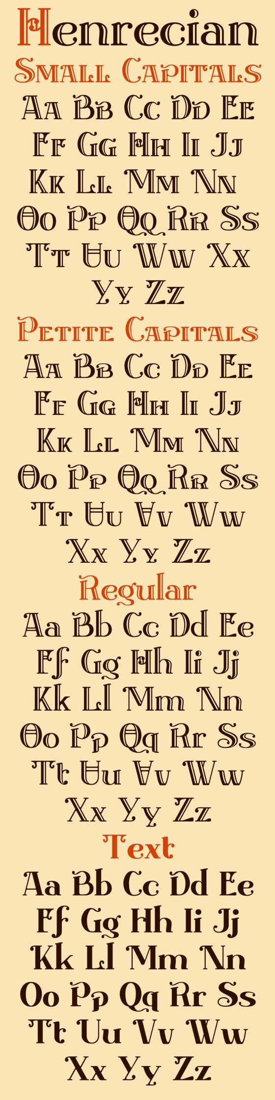 Henrecian Alphabet