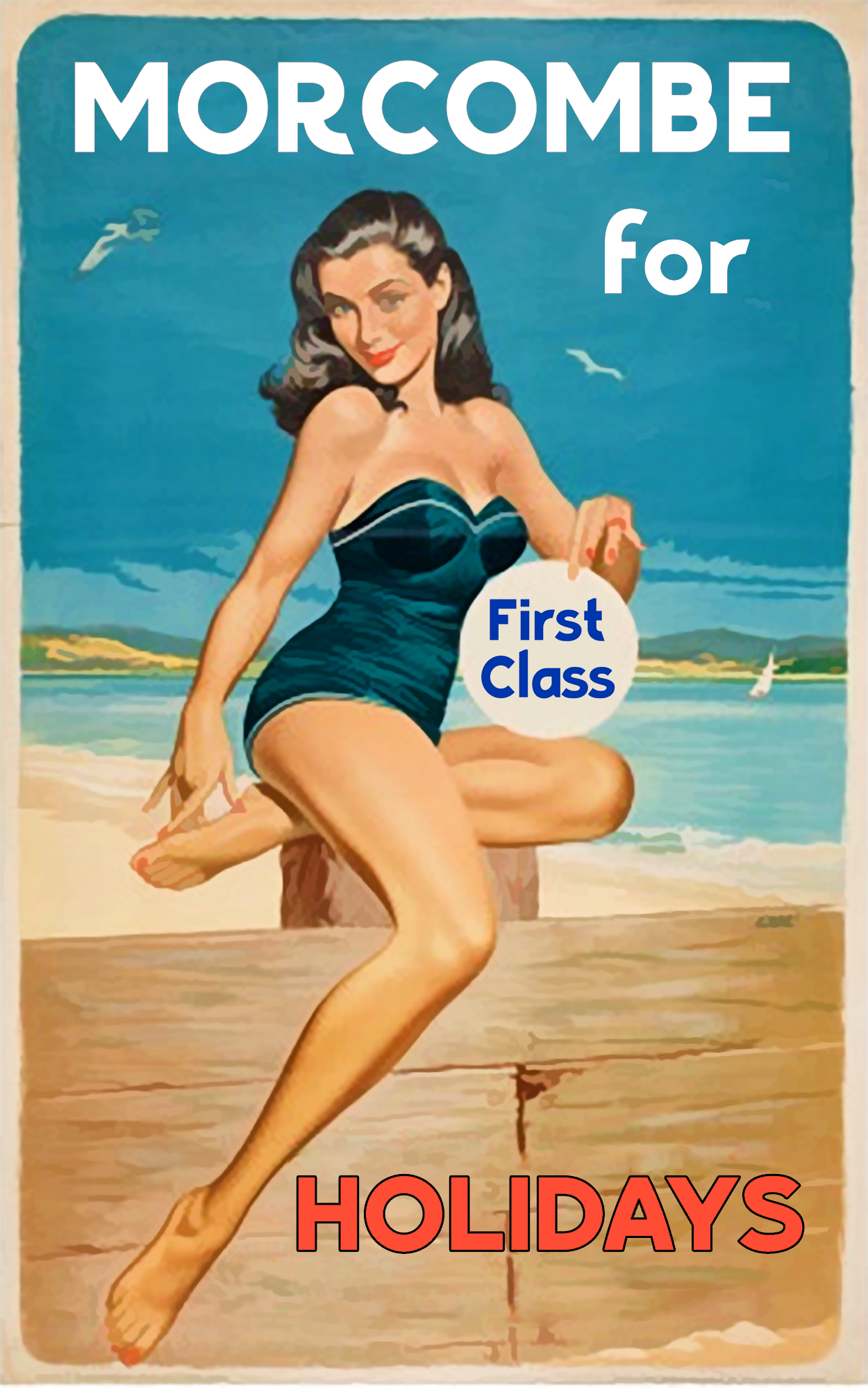 Poster design 50s - Seaside1 Seaside2 Seaside3