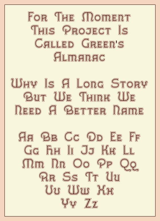Greene's Almanac1