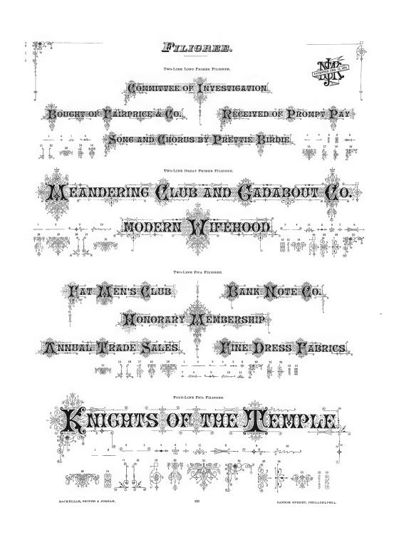 Pages from MacKellar, Smith & Jordan Specimen Book